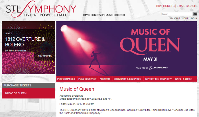 St Louis Symphony - Music Of Queen